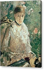 Portrait Of A Young Lady Acrylic Print by Berthe Morisot