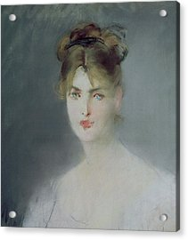 Portrait Of A Young Woman With Blonde Hair And Blue Eyes Acrylic Print by Edouard Manet