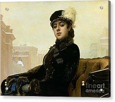 Portrait Of An Unknown Woman Acrylic Print by Ivan Nikolaevich Kramskoy