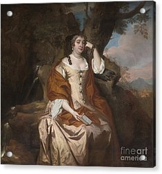 Portrait Of Anne Hyde Duchess Of York Acrylic Print by Celestial Images