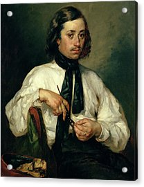 Portrait Of Armand Ono Acrylic Print by Jean-Francois Millet