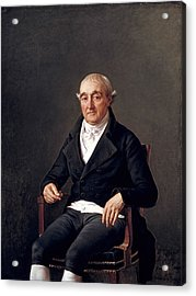 Portrait Of Cooper Penrose Acrylic Print by Jacques Louis