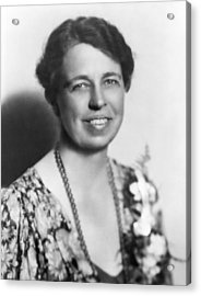 Portrait Of Eleanor Roosevelt Acrylic Print by Underwood Archives