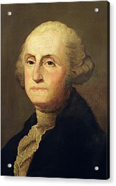 Portrait Of George Washington Acrylic Print by Gilbert Stuart
