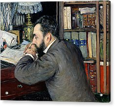 Portrait Of Henri Cordier Acrylic Print by Gustave Caillebotte