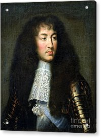 Portrait Of Louis Xiv Acrylic Print by Charles Le Brun