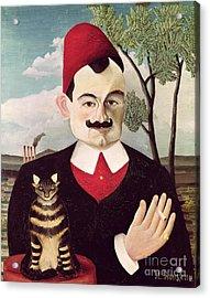 Portrait Of Pierre Loti Acrylic Print by Henri Rousseau