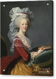Portrait Of Queen Marie-antoinette Acrylic Print by Celestial Images