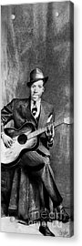 Portrait Of Robert Johnson Acrylic Print by Carrie Jackson