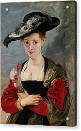 Portrait Of Susanna Lunden Acrylic Print by Peter Paul Rubens
