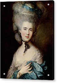 Portrait Of The Duchess Of Beaufort Acrylic Print by Thomas Gainsborough