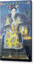 Portrait Of The Empress Dowager Cixi Acrylic Print by Chinese School