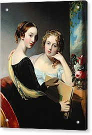 Portrait Of The Mceuen Sisters Acrylic Print by Thomas Sully