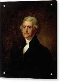 Portrait Of Thomas Jefferson Acrylic Print by Asher Brown Durand