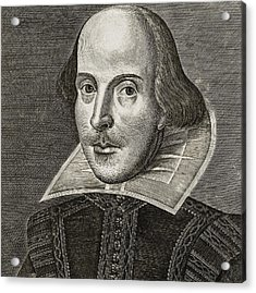 Portrait Of William Shakespeare Acrylic Print by Martin the elder Droeshout