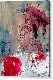Portrait#6 Kitchen Table Acrylic Print by Pearse Gilmore
