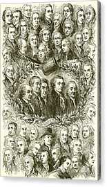 Portraits Of The Signers Of The Declaration Of Independence Acrylic Print by American School