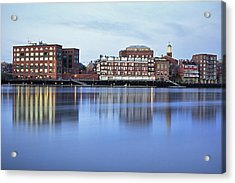 Portsmouth Harbor Reflections Acrylic Print by Eric Gendron