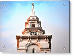 Portsmouth North Church Steeple Acrylic Print by Eric Gendron