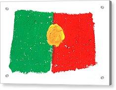 Portuguese Flag Acrylic Print by Gaspar Avila