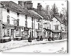 Post Office  Prestbury Acrylic Print by Vincent Alexander Booth