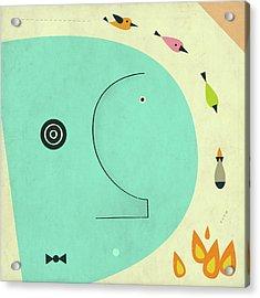 Post Traumatic Stress Disorder Acrylic Print by Jazzberry Blue