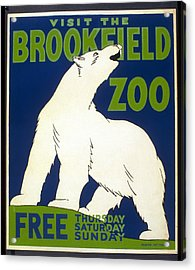 Poster For The Brookfield Zoo Acrylic Print by Unknown