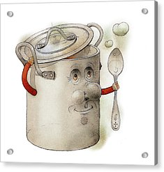 Pot Acrylic Print by Kestutis Kasparavicius