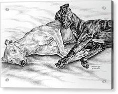 Potato Chips - Two Greyhound Dogs Print Acrylic Print by Kelli Swan