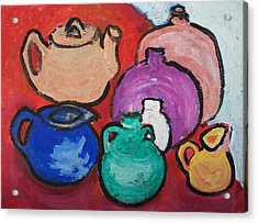 Pots Acrylic Print by Jay Manne-Crusoe