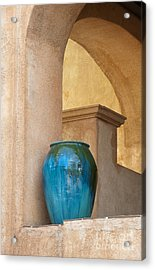 Pottery And Archways Acrylic Print by Sandra Bronstein