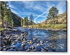 Poudre River Rocks Acrylic Print by Keith Ducker