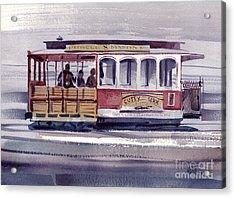 Powell And Mason Line Acrylic Print by Donald Maier