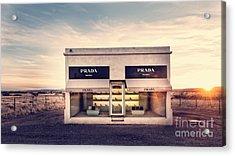 Prada Store Acrylic Print by Edward Fielding