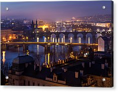 Prague Bridges Acrylic Print by Blaz Gvajc