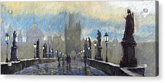 Prague Charles Bridge 06 Acrylic Print by Yuriy  Shevchuk