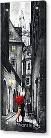 Prague Love Story Acrylic Print by Yuriy  Shevchuk