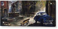 Prague Old Fountain Acrylic Print by Yuriy  Shevchuk