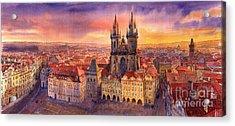 Prague Old Town Square 02 Acrylic Print by Yuriy  Shevchuk