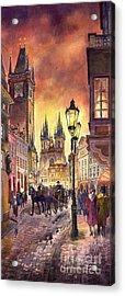 Prague Old Town Squere Acrylic Print by Yuriy  Shevchuk