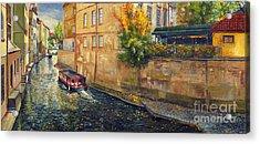 Prague Venice Chertovka 2 Acrylic Print by Yuriy  Shevchuk