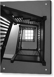 Prairie House Stairs Acrylic Print by Anna Villarreal Garbis