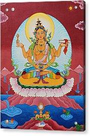 Prajnaparamita Acrylic Print by Sarah Grubb
