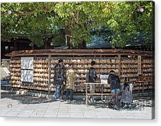 Prayer Tablets At The Shinto Shrine In Tokyo Acrylic Print by Patricia Hofmeester