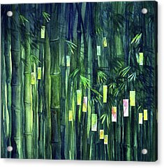 Prayer Tree IIi Acrylic Print by Janet Chui