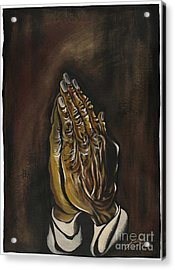 Praying Hands Acrylic Print by Keith  Thurman