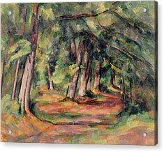 Pres Du Jas De Bouffan Acrylic Print by Paul Cezanne