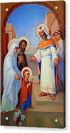 Presentation Of Mary In The Temple  Acrylic Print by Svitozar Nenyuk