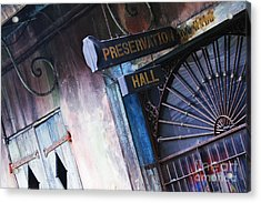 Preservation Hall Sign Acrylic Print by Jeremy Woodhouse
