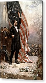 President Abraham Lincoln Giving A Speech Acrylic Print by War Is Hell Store